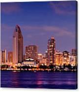 San Diego Skyline At Dusk Canvas Print