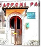 San Felice Circeo Door Of The School Canvas Print