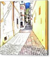 San Felice Circeo Street Canvas Print