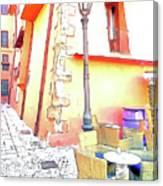 San Felice Circeo Strret Lamp Canvas Print