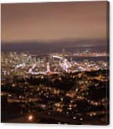 San Francisco At Night Canvas Print