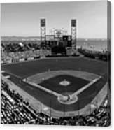 San Francisco Ballpark Bw Canvas Print