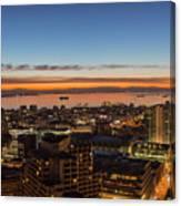 San Francisco Bay Early Morning Glow  Canvas Print