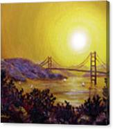 San Francisco Bay In Golden Glow Canvas Print
