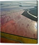 San Francisco Bay Salt Flats 5 Canvas Print