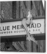 San Francisco Blue Mermaid Bw Canvas Print