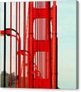 San Francisco Golden Gate Bridge Symphony In California Canvas Print