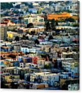 San Francisco California Scenic  Rooftop Landscape Canvas Print