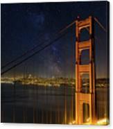 San Francisco City Skyline Through Golden Gate Bridge Canvas Print