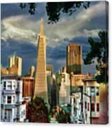 San Francisco Cliff Canvas Print