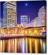 San Francisco Downtown City Skyline At Night Canvas Print