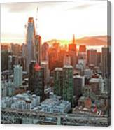 San Francisco Financial District Skyline Canvas Print