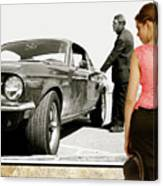 San Francisco Museum Of Art, Frank Bullitt, Steve Mcqueen, Ford Mustang Gt 390, Fastback Canvas Print