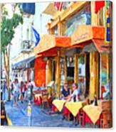 San Francisco North Beach Outdoor Dining Canvas Print