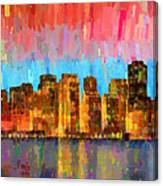 San Francisco Skyline 11 - Pa Canvas Print
