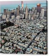 San Francisco Skyline And Coit Tower Canvas Print