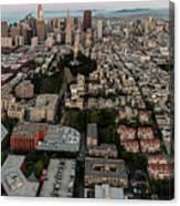 San Francisco Skyline And Coit Towersan Francisco Skyline And Coit Tower Canvas Print