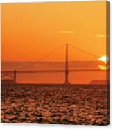 San Francisco Sunset Canvas Print