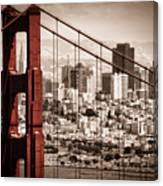 San Francisco Through The Bridge Canvas Print