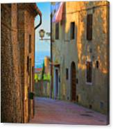 San Gimignano Alley Canvas Print