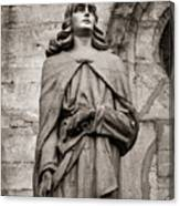 San Juan Bautista Statue At The Manizales Cathedral Canvas Print