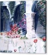 San Juan Capistrano In The Courtyard Canvas Print