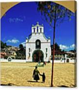 San Juan Chamula Church In Chiapas, Mexico Canvas Print