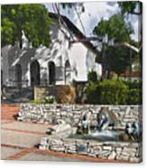 San Luis Mission Fountain Canvas Print