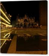 San Marco In Venice At Night Canvas Print