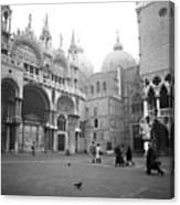 San Marco Piazza And Basilica In Venice Canvas Print