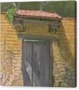 San Sebastian Garden Door Canvas Print