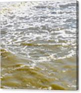 Sand Beach And Wave 4 Canvas Print