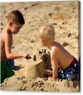 Sand Castle Canvas Print