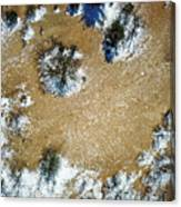 Sand Dune With Snow Canvas Print