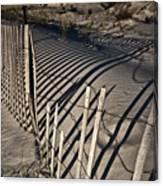 Sand Fence Canvas Print