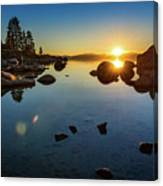 Sand Harbor Sunset Canvas Print