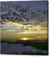 Sand N Sunset Canvas Print