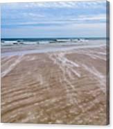 Sand Swirls On The Beach Canvas Print