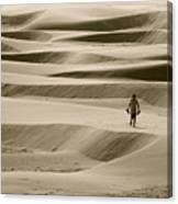 Sand Walker Canvas Print