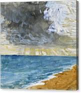 Sandgate Beach. Kent  Canvas Print