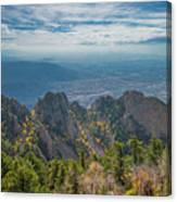 Sandia Crest In Fall Canvas Print