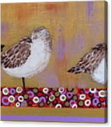Sandpipers On The Emerald Coast Canvas Print