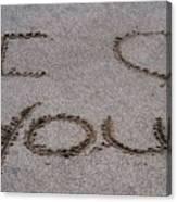 Sandscript - I Love You Canvas Print