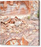 Sandstone Colors In Wash 3 - Valley Of Fire Canvas Print