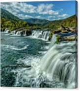 Sandstone Falls New River  Canvas Print