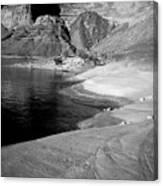 Sandstone Shoreline And Cliffs Lake Powell Canvas Print