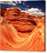 Sandstone Waves And Clouds Canvas Print