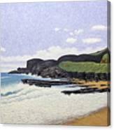 Sandy Beach Oahu Canvas Print