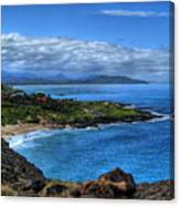 Sandy Beach Park-oahu Canvas Print