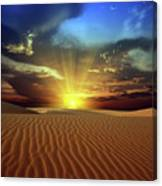 Sandy Desert Canvas Print